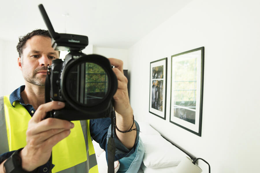 Luke in High-vis Jacket with Camera