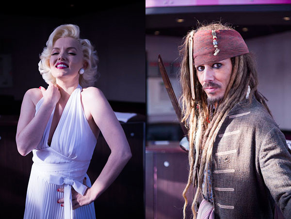 Marilyn Monroe and Jack Sparrow