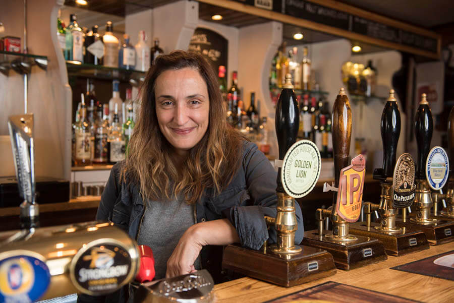 Simone, The Golden Lion Pub's Landlady